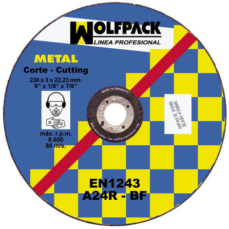 Disco Corte Abrasivo Metal 230X3.2X22 Mm - NEOFERR..