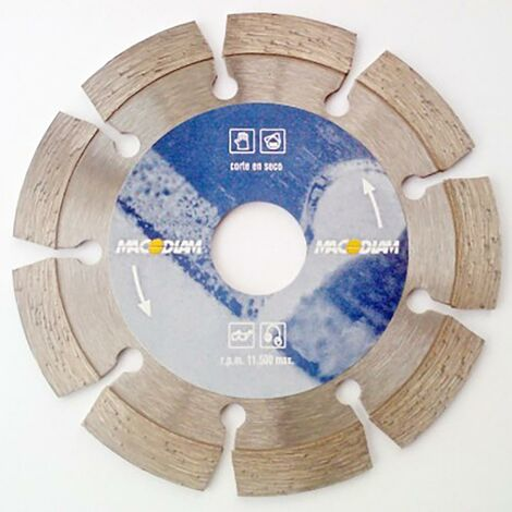 Disco Corte General Obra 115X2X10 Mm Macodiam Ma32T-115