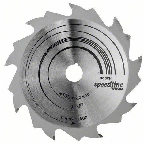 Disco corte madera para Sierra circular 130x16 mm