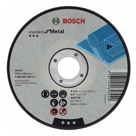 Disco corte metal 115x2,5x22,23mm standard bosch