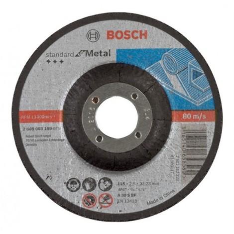 "main image of ""Bosch 2608603159 Disco abrasivo corte cóncavo Standard Metal 115x2,5mm 25 uds"""