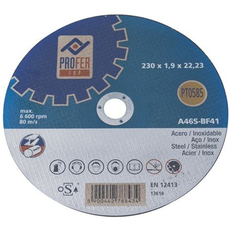 DISCO CORTE METAL / INOX PLANO PRO 125x1 MM