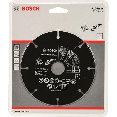 Disco Corte Multimaterial Carburo 125 Mm - BOSCH - 2608623013