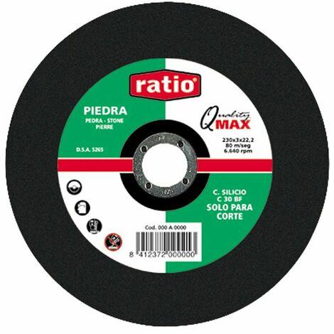 DISCO CORTE PIEDRA 230X3X22 RATIO