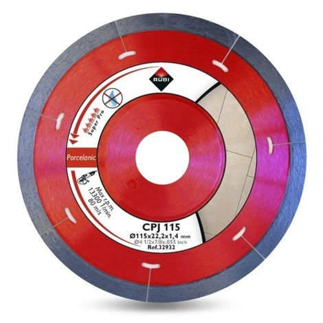 Disco corte porcelan. segment 115mmx1,7mm diam cpj-115 rubi