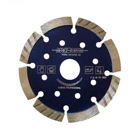"main image of ""Disco corte prof segment 115 mmx10mm turbo diam macodiam"""
