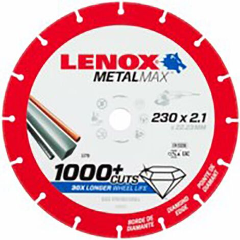 Disco corte segment 230x2,1x22,23 diam metalmax lenox