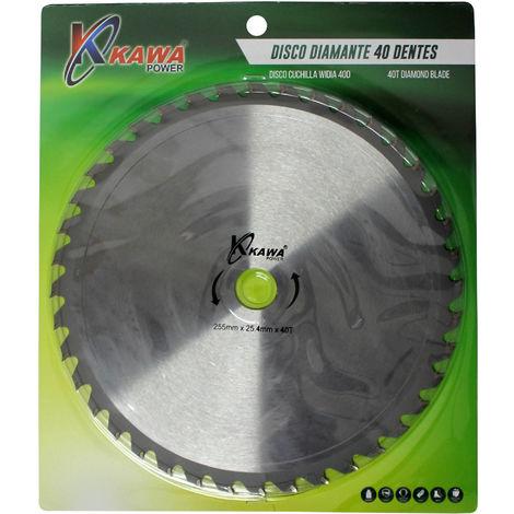 Disco cuchilla de Widia con 40 puntas para desbrozadora.
