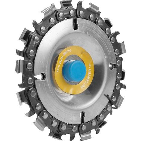 Disco de cadena de amoladora de 4 pulgadas y 14 dientes Disco de talla de madera de eje de 16 mm