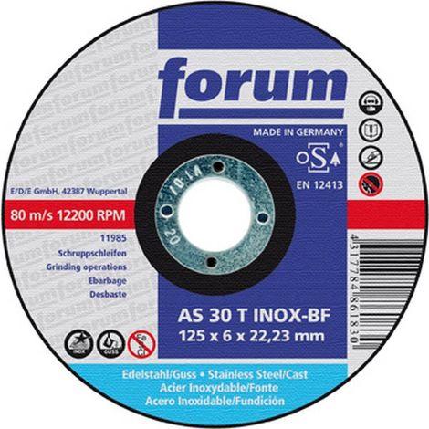 Disco de cizallar para mecanización Acero Inoxidable, Ø x Espesor : 125 x 6,0 mm, Modelo acodado, Velocidad máx. 12200 tr/mn