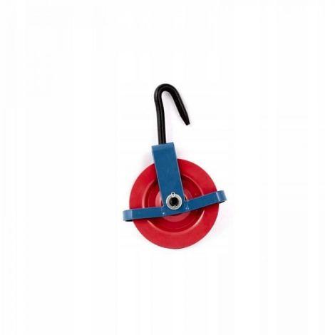 Disco de construcción con freno extractor de polea