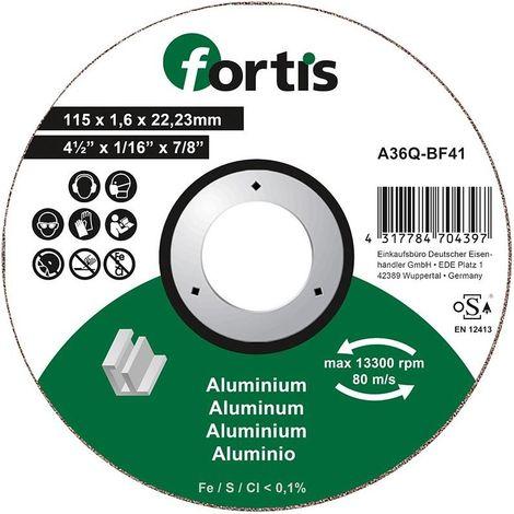 Disco de corte ALU-NE 115 x 16mm curva FORTIS