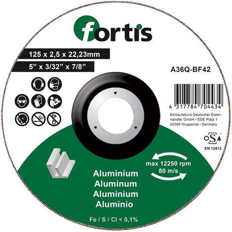 Disco de corte ALU-NE 125 x 25mm gekr. FORTIS