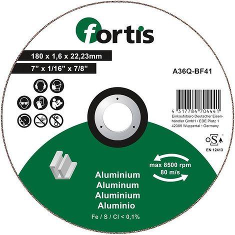 Disco de corte ALU-NE 180 x 16mm curva FORTIS