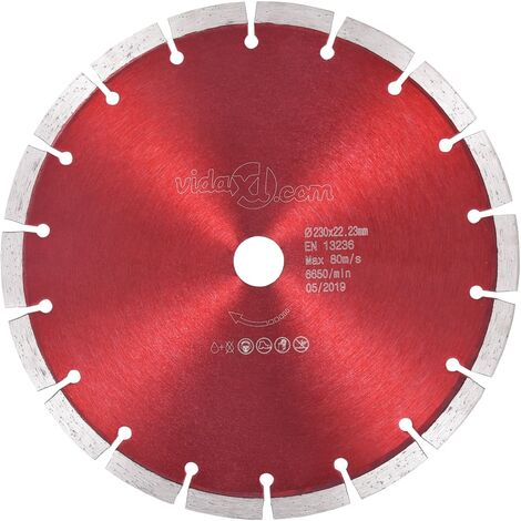 Disco de corte de diamante acero 230 mm