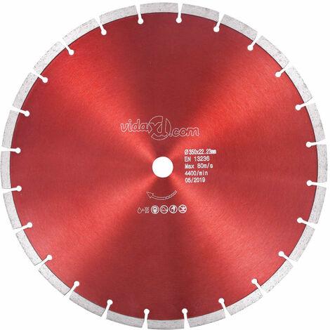 Disco de corte de diamante acero 350 mm