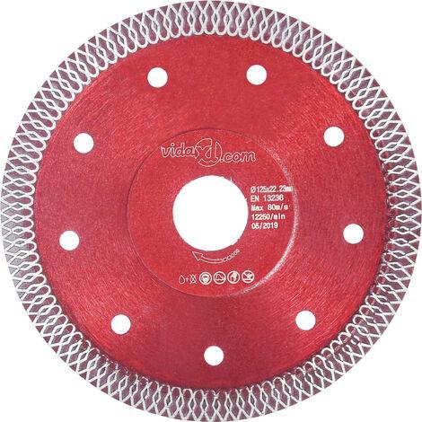 Disco de corte de diamante con agujeros acero 125 mm