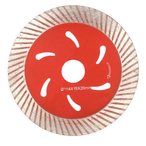 Disco de corte de diamante, con orificios de refrigeracion, 114*15*20Mm, Rouge