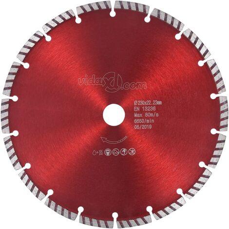 Disco de corte de diamante con turbo acero 230 mm