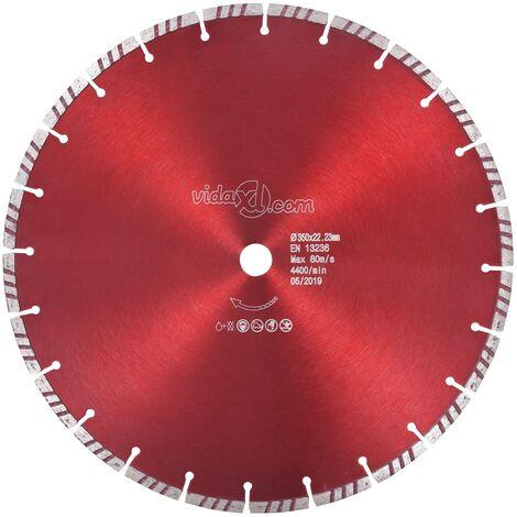 Disco de corte de diamante con turbo acero 350 mm