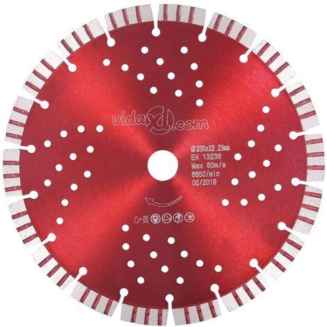 Disco de corte de diamante con turbo y agujeros acero 230 mm