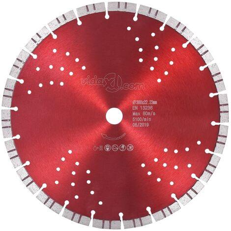 Disco de corte de diamante con turbo y agujeros acero 300 mm