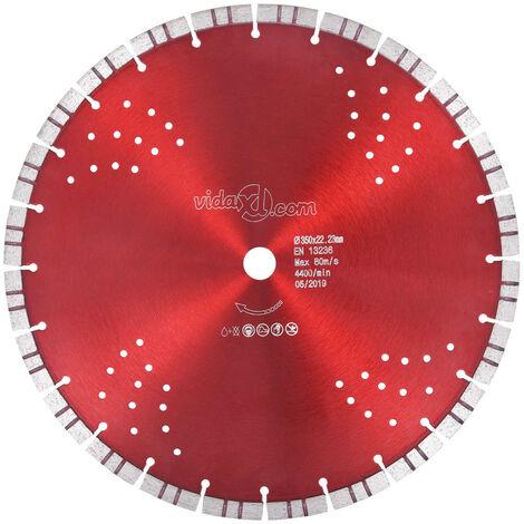 Disco de corte de diamante con turbo y agujeros acero 350 mm