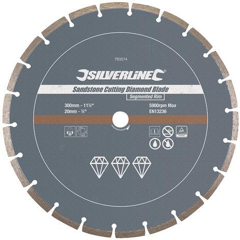 Disco de corte diamantado para piedra arenisca 300 x 20 mm, hoja segmentada - NEOFERR