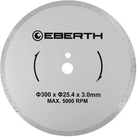 Disco de corte diamante discos diamantado universal para el corte seco y húmedo (300 mm diámetro, diámetro del orificio 25,4 mm, grosor 3,0 mm, velocidad máxima 5000 min-1)