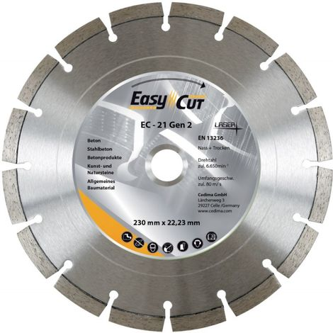 Disco de corte diamanteado EC-21 180x2, 3x12x 22.23 mm CEDIMA