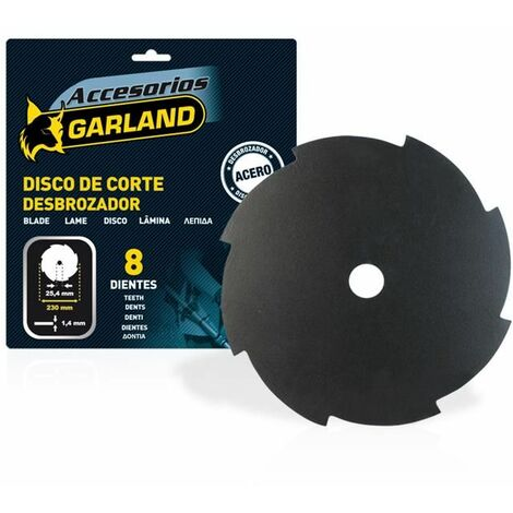 Disco de corte Garland de ocho dientes 230mm