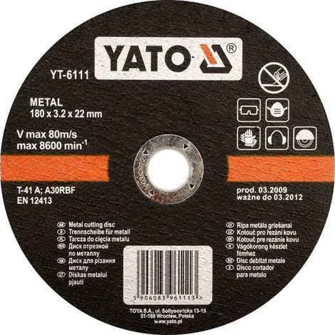 Disco de corte para metal Yato YT-5923