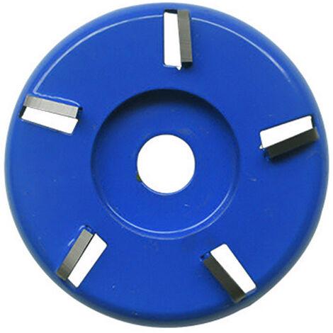 Disco de corte para tallar madera, pala para trabajar la madera, placa, herramienta para esculpir, accesorio de fresado para amoladora angular de 16 mm, 5 dientes, azul, arco, tipo 3
