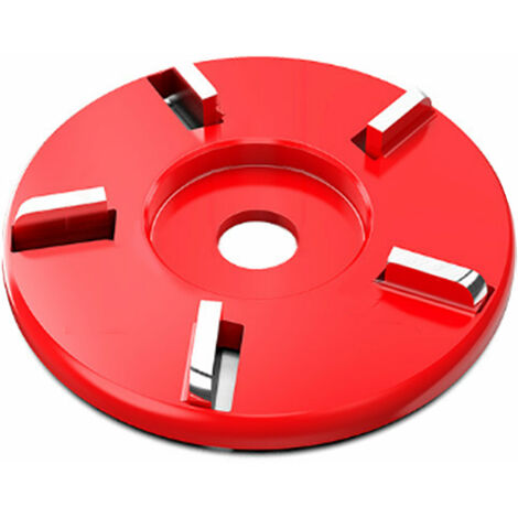 Disco de corte para tallar madera, pala para trabajar la madera, placa, herramienta para esculpir, accesorio de fresado para amoladora angular de 16 mm, 5 dientes, rojo, plano, type3