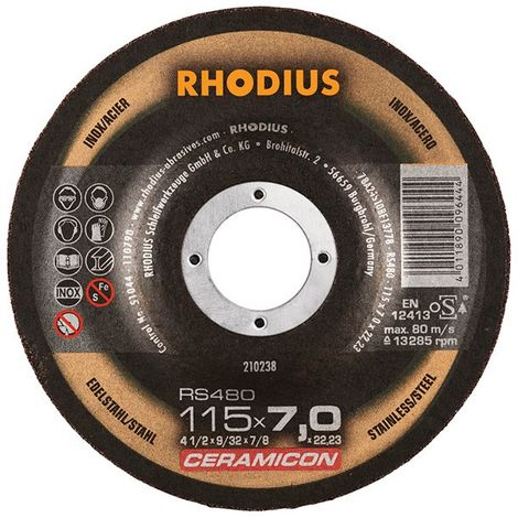Disco de corte RS480 115 x 7,0 mm Inox Rhodius(por 25)