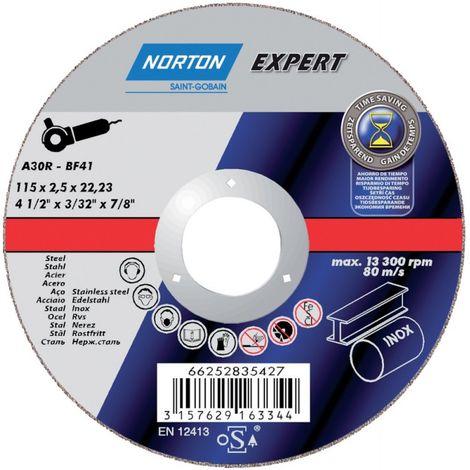 Disco de corte Stahl-Inox A30R-180x2.5x22.23mm