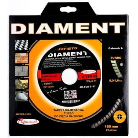 Disco de corte turbo diamante de 180 x 1.8 mm