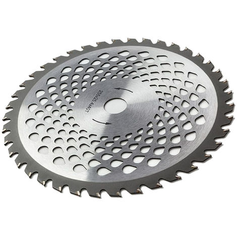 Disco de cuchilla de acero de primera calidad con 40 dientes para desbrozadora y cortadora de césped