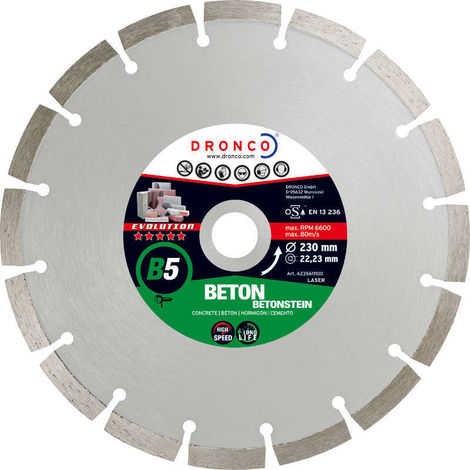 Disco de diamante Evolution B5 - Hormigón (Antes ECF) - dronco_b5