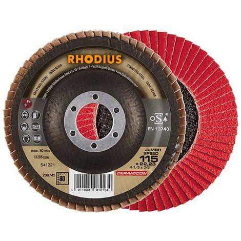 Disco de láminas JUMBO SP 115mm K 80 Rhodius(por 10)