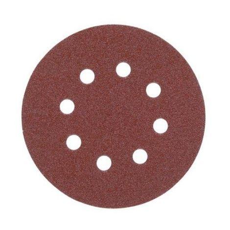Disco de lija 125mm con Fijación Rápida (8 orif.) - 60 gr - 5uds 4932367741