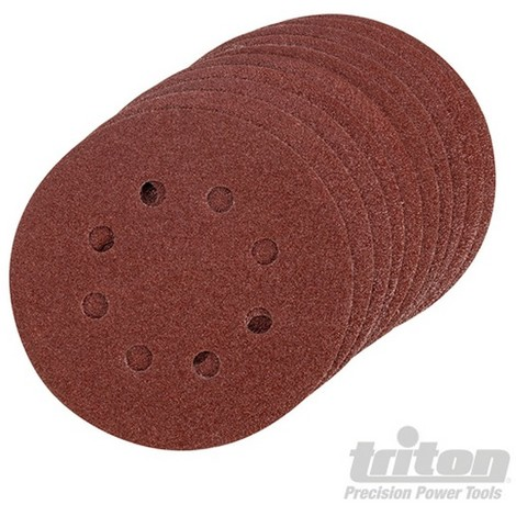 Disco de lija autoadherente 125 mm. 10 pzas (Grano 80)