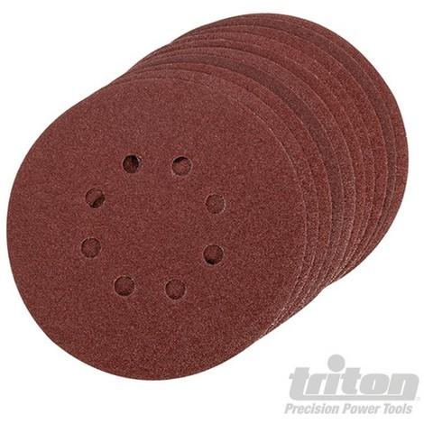 Disco de lija autoadherente 150 mm. 10 pzas (Grano 80)