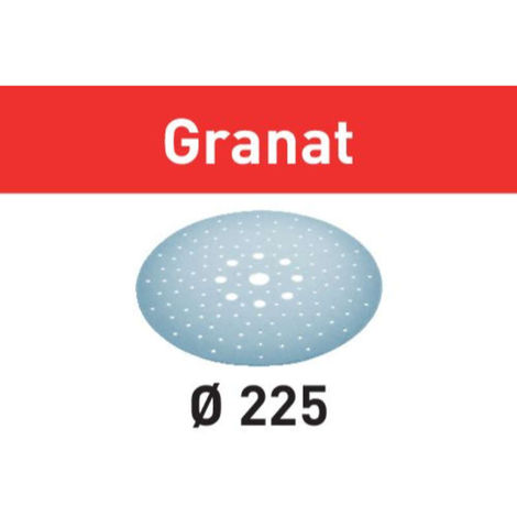 Disco de lijar STF D225/128 P180 GR/5 Granat Festool