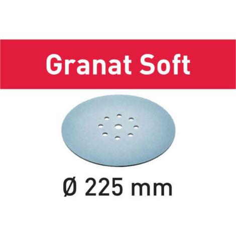 Disco de lijar STF D225 P320 GR S/25 Granat Soft Festool