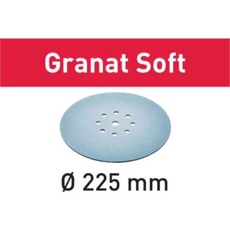 Disco de lijar STF D225 P400 GR S/25 Granat Soft Festool