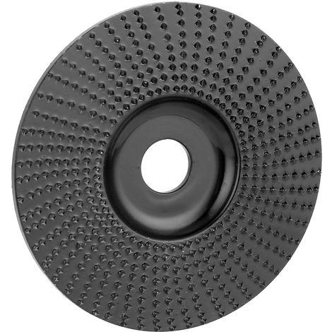 Disco de madera tallada, disco plano, diametro interior de 16mm,diametro exterior de 100mm, negro