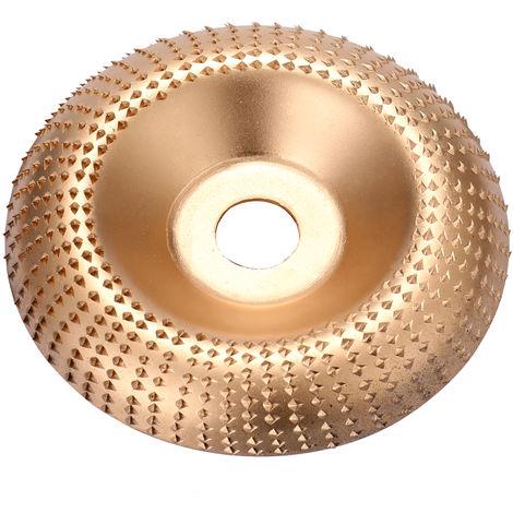 Disco de muela de angulo de madera de acero al carbono, para amoladora angular,Dorado