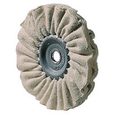 Disco de pulido textil, flexible, Ø : 80 mm, Ancho : 10 mm, escariado 10 mm