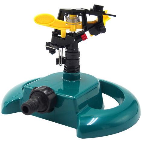 Disco de rociadores de riego base de plastico rociadores automaticos de agua para cesped, estanque de peces, Jardin 360 ¡ã de rotacion